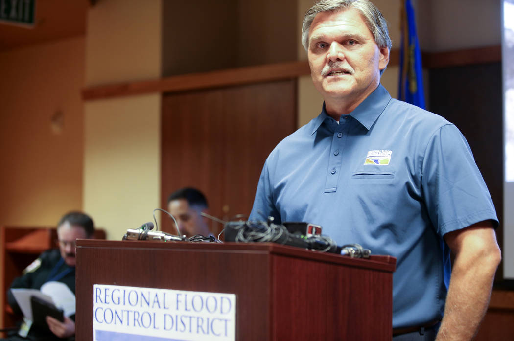 Clark County Regional Flood Control District General Manager and Chief Engineer Steve Parrish d ...