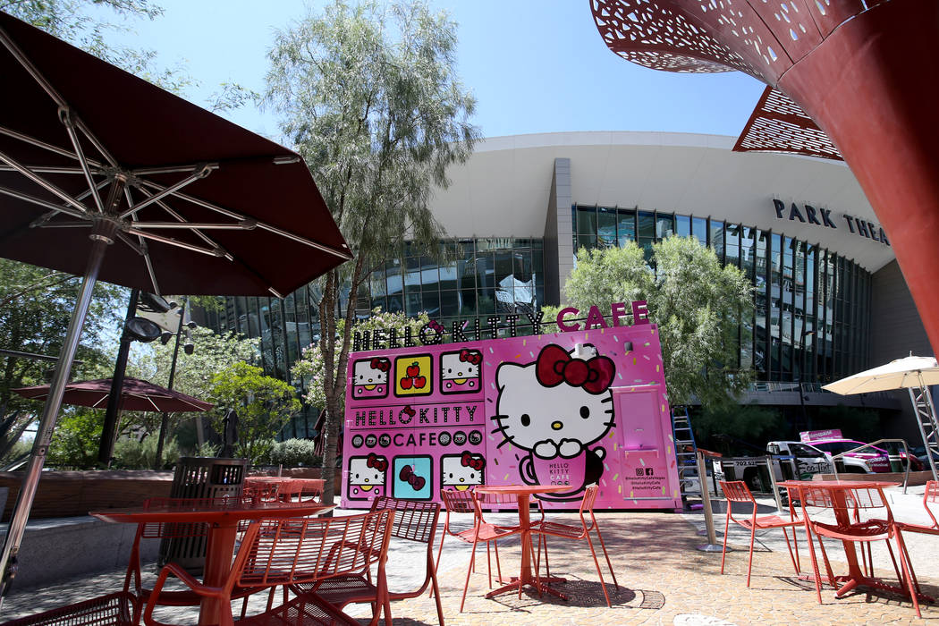 The Hello Kitty Cafe at The Park located on the Strip near T-Mobile Arena in Las Vegas before a ...