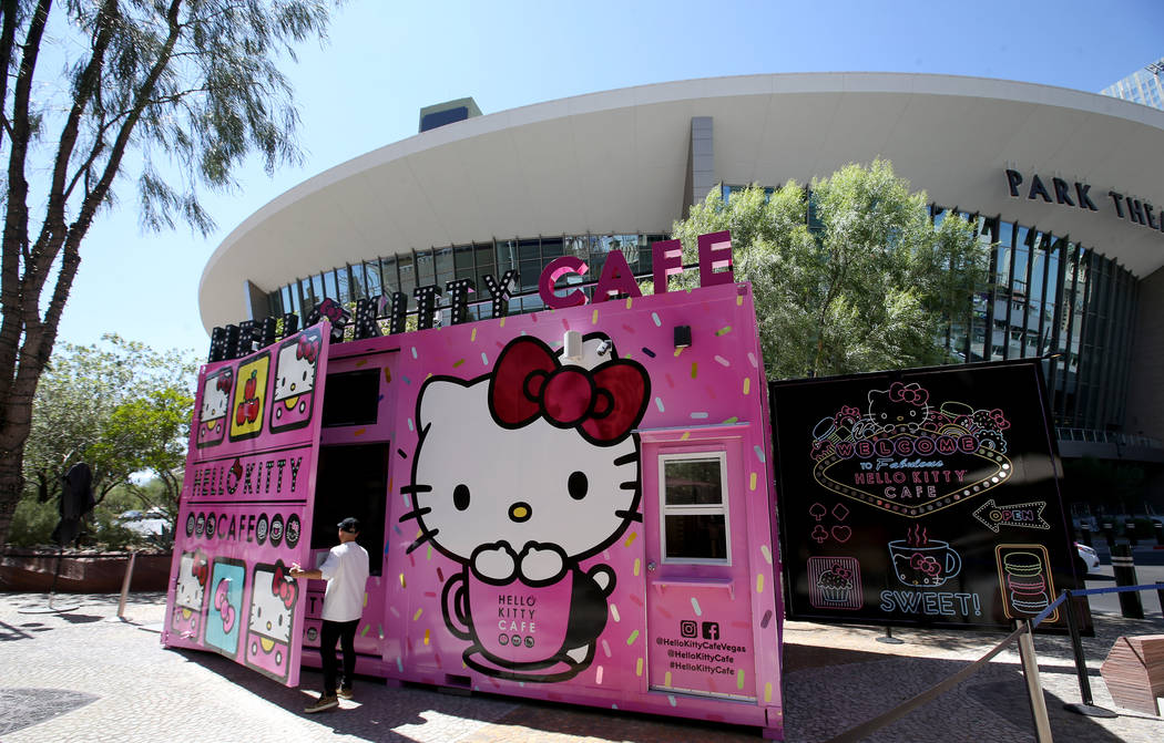 Hello Kitty Cafe owner Polo Nguyen prepares for a media preview for the pop-up at The Park loca ...