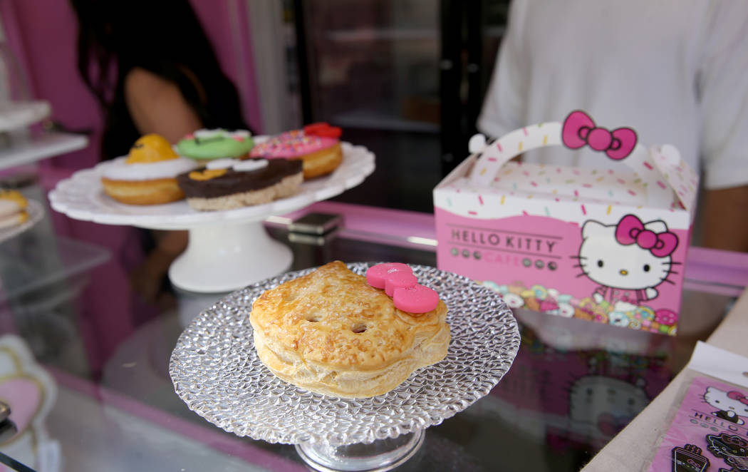 Hello Kitty Cafe Strawberry Puff Pastry during a media preview for the pop-up at The Park locat ...