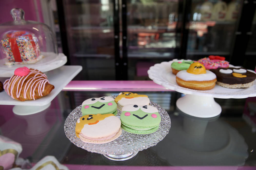 Hello Kitty Cafe Macaroons during a media preview for the pop-up at The Park located on the Str ...