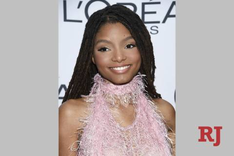 Halle Bailey, half of the sister duo Chloe x Halle, is seen in 2017. (Photo by Evan Agostini/In ...