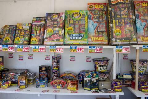 A fireworks stand is seen in Las Vegas, Wednesday, June 28, 2017. (Erik Verduzco/Las Vegas Revi ...