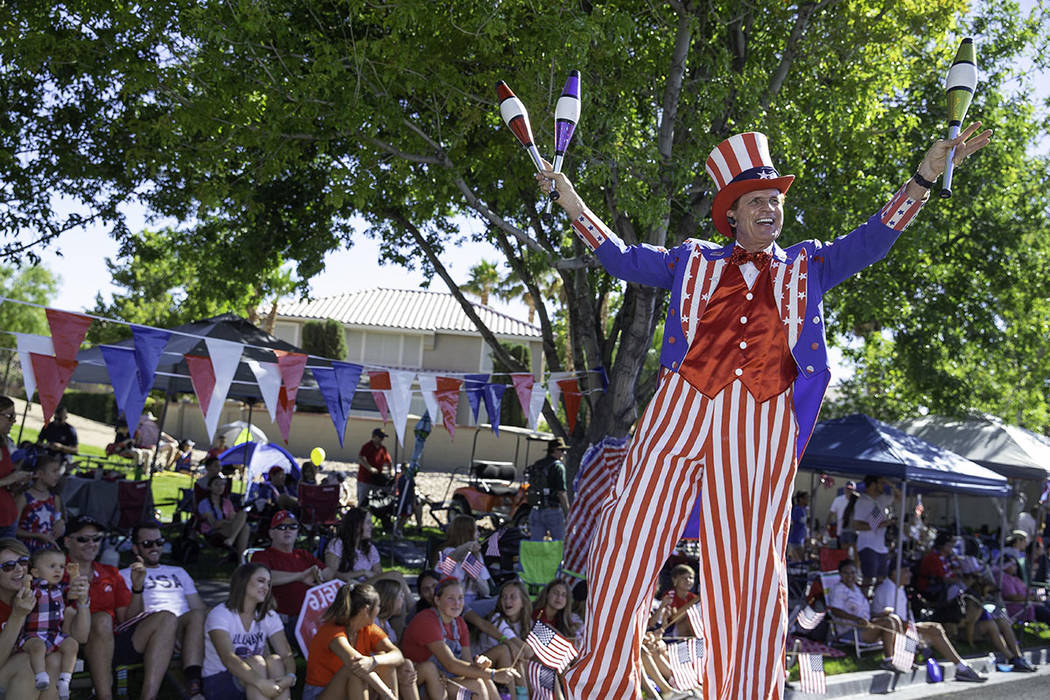 More than 40,000 Las Vegas Valley residents attended the 25th annual Summerlin Fourth of July p ...