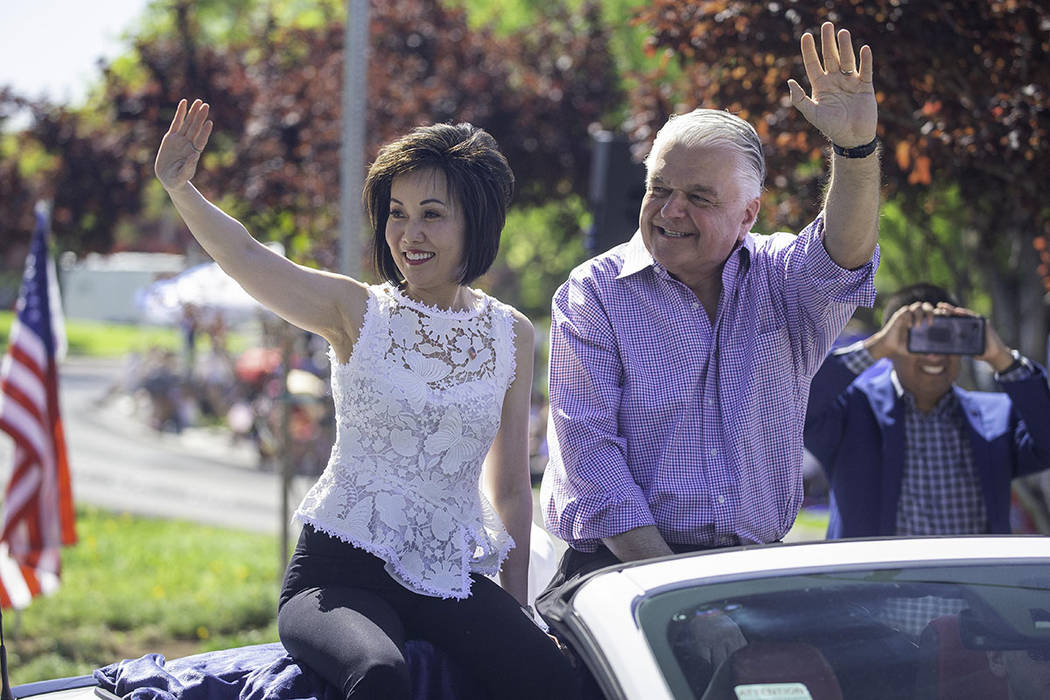 Nevada Gov. Steve Sisolak and first lady Kathy Sisolak, rode in the parade. (Summerlin)