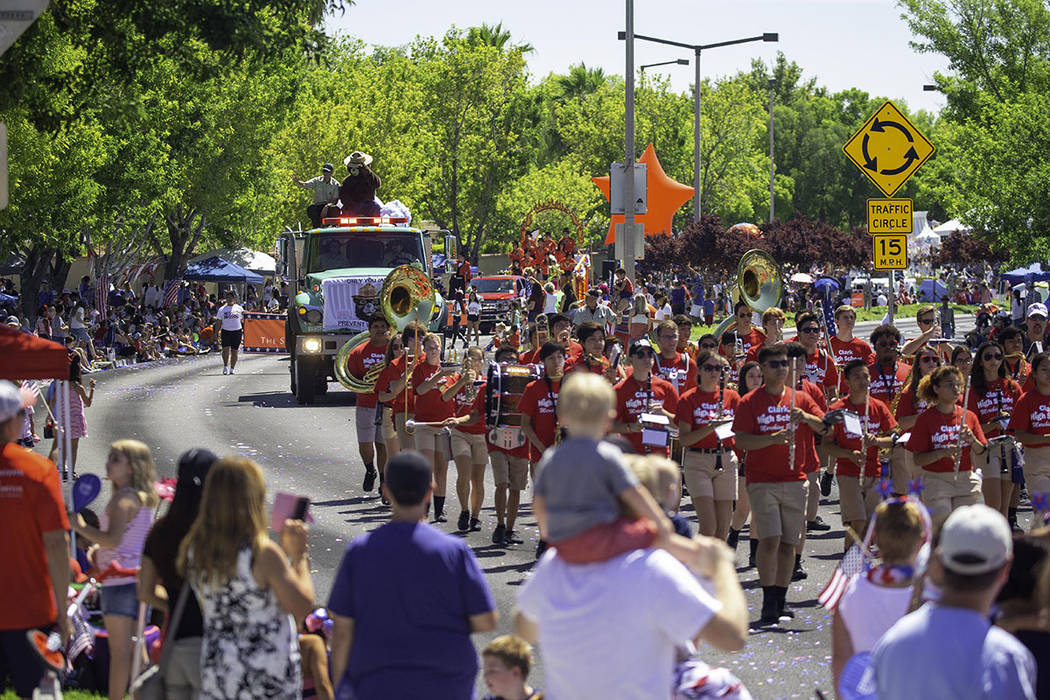 Several area school bands marched in the Fourth of July parade. (Summerlin)
