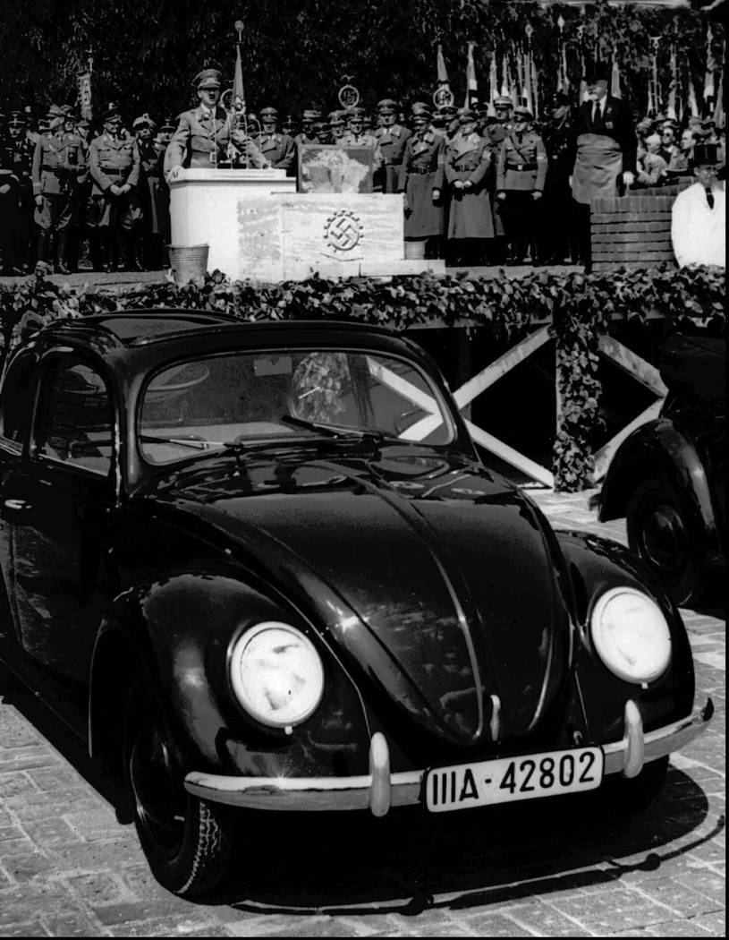 FILE - In this May 26, 1938 file photo, German Nazi leader Adolf Hitler speaks at the opening c ...