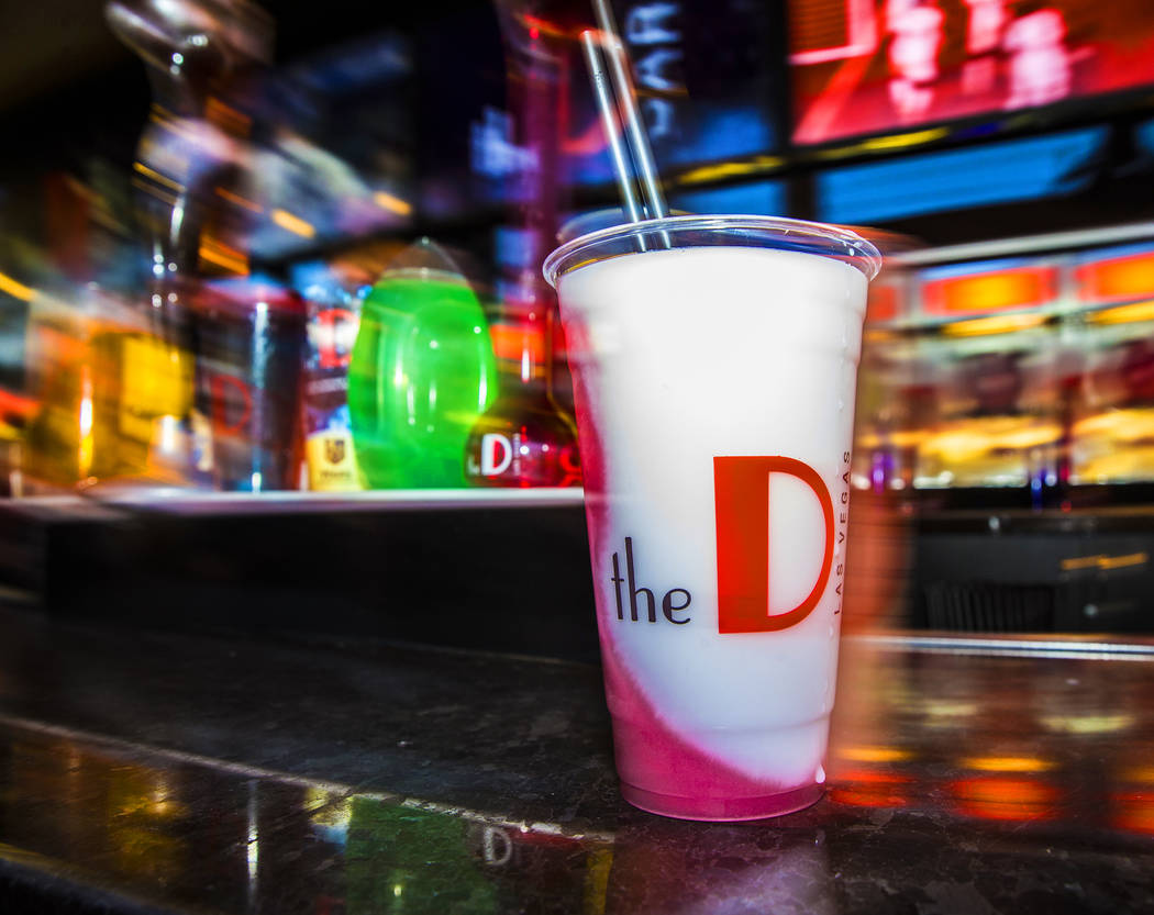 A tropical bliss frozen drink at D Bar on Friday, July 5, 2019, at the Fremont Street Experienc ...