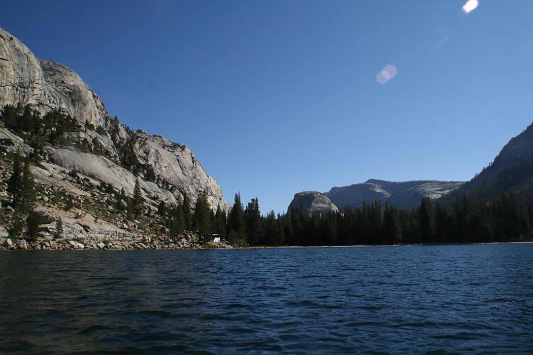 Tenaya Lake is a high Sierra lake located along Tioga Road in Yosemite National Park, Calif. De ...