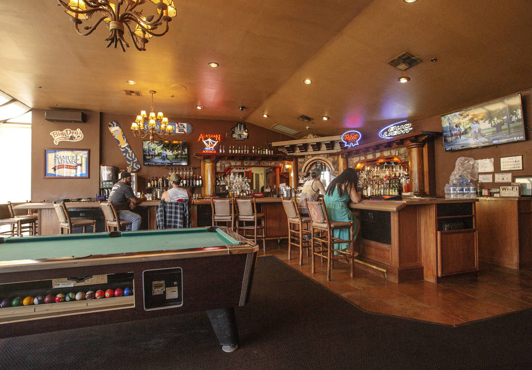 Guest have drinks at the bar at The Resort in Mount Charleston on Wednesday, July 10, 2019 in M ...