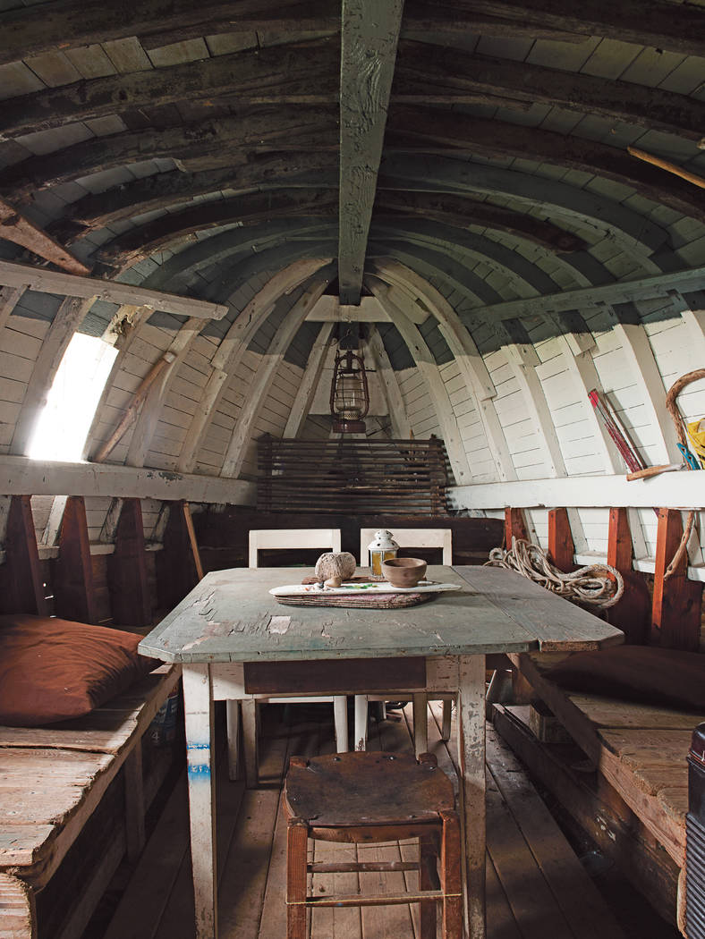 This home in Audierne, France, was a crab-fishing vessel, that is, until a French artist found ...