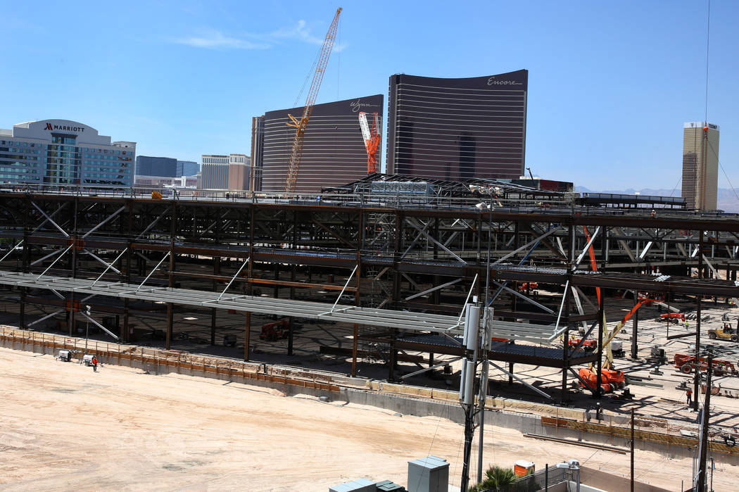 The Las Vegas Convention Center expansion photographed on Tuesday, July 9, 2019, in Las Vegas. ...