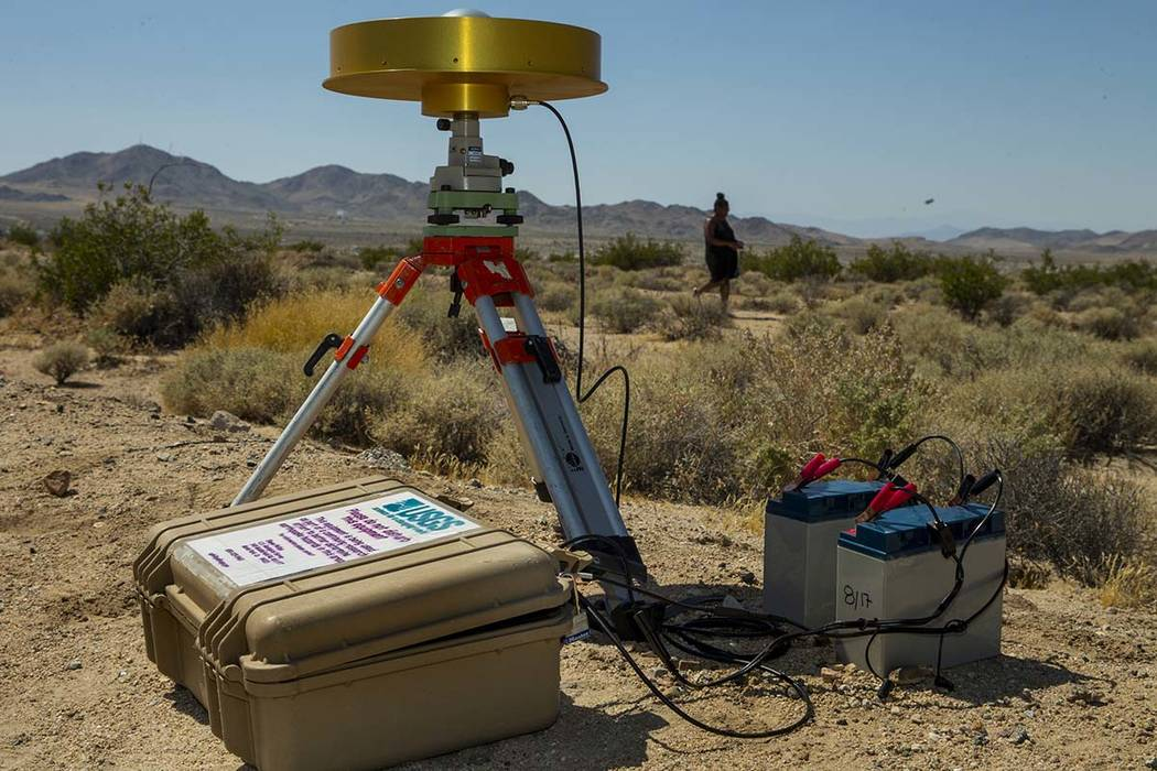 The USGS has set up monitoring stations due to the earthquake activity like this one along Hwy ...