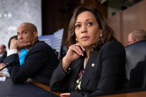 Sen. Kamala Harris, D-Calif., right. (AP Photo/J. Scott Applewhite)