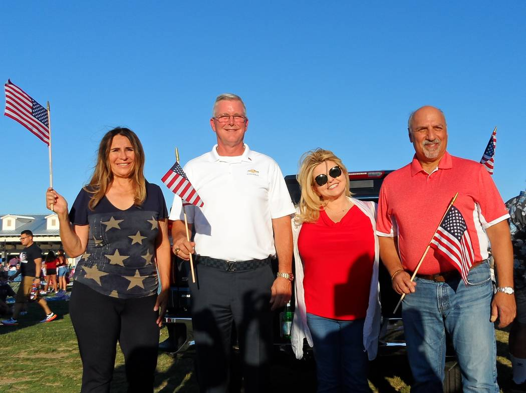Attending the Fourth of July Celebration at Skye Canyon were Las Vegas Councilwoman Victoria Se ...