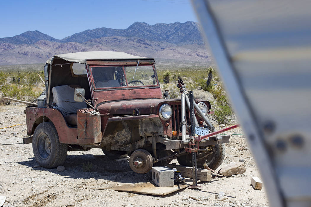 The Jeep where Troy Ray died while working on the vehicle below it, officials believe, on Wedne ...