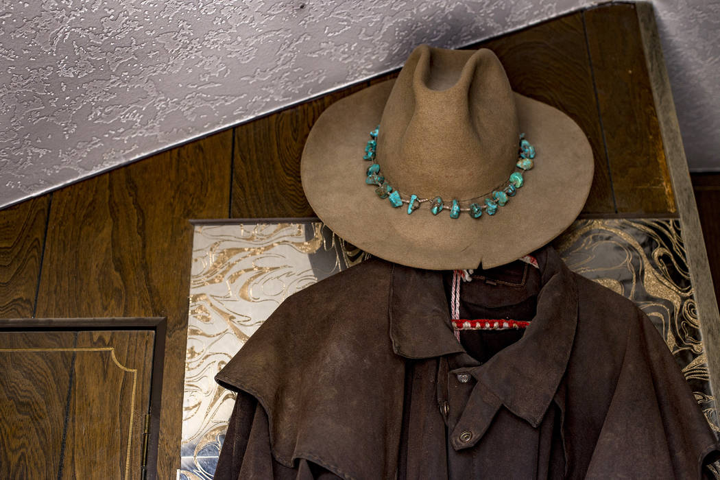 A hat and coat hang inside the trailer on the property where Troy Ray died as a result of the J ...