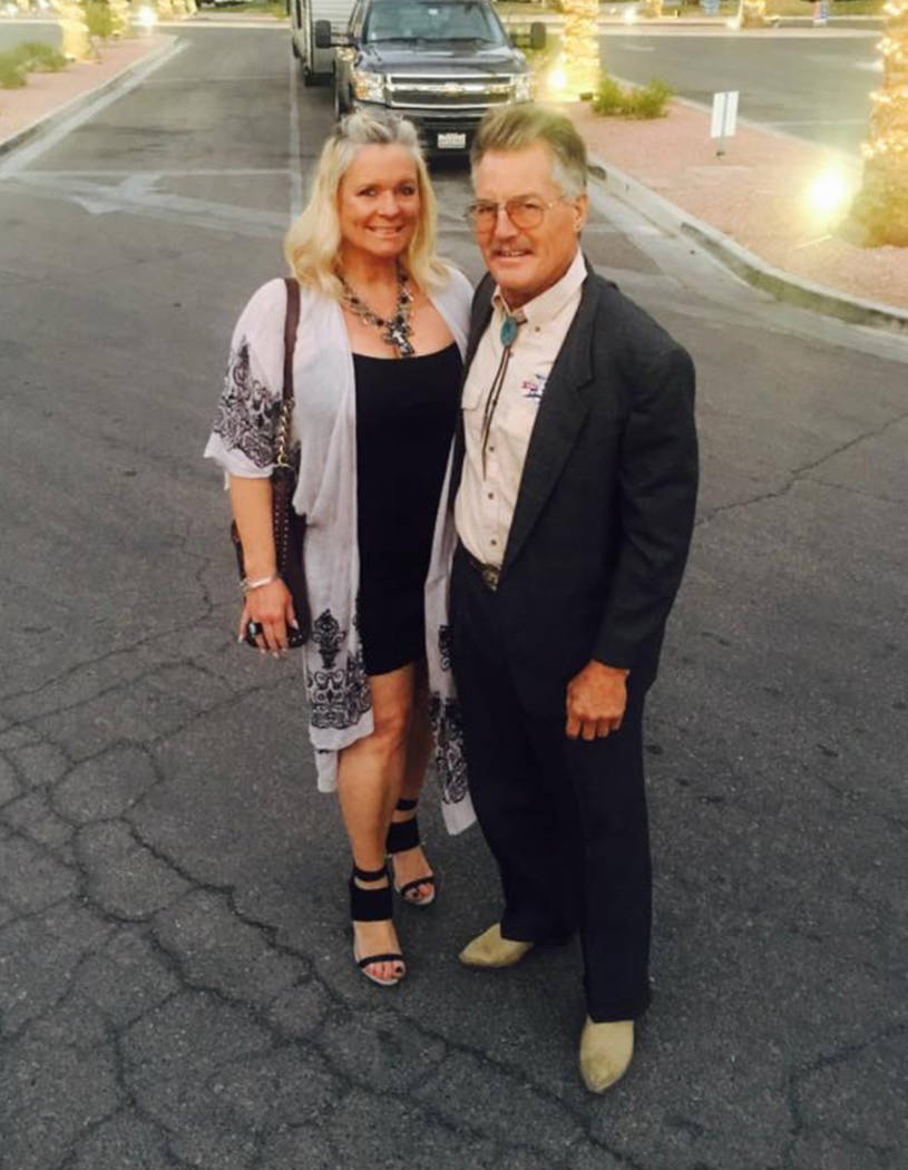 Hilary Chorak and her brother Troy Ray. Troy Ray died while working on his Jeep in Pahrump, off ...