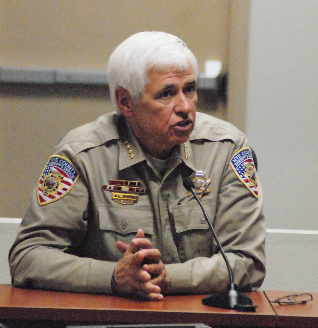 Former Nye County Sheriff Tony DeMeo in 2013. (Horace Langford Jr./Pahrump Valley Times)