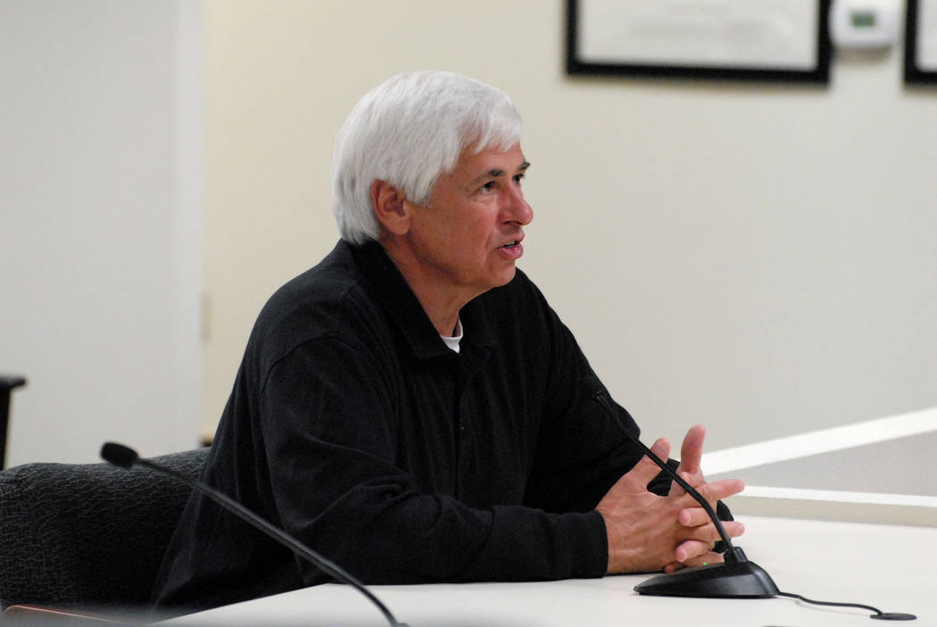 Former Nye County Sheriff Tony DeMeo in 2014 (Horace Langford Jr./Pahrump Valley Times)