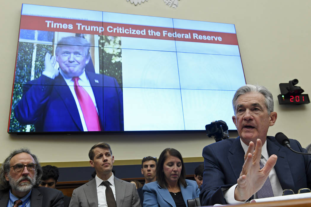 Federal Reserve Chairman Jerome Powell testifies before the House Financial Services Committee ...