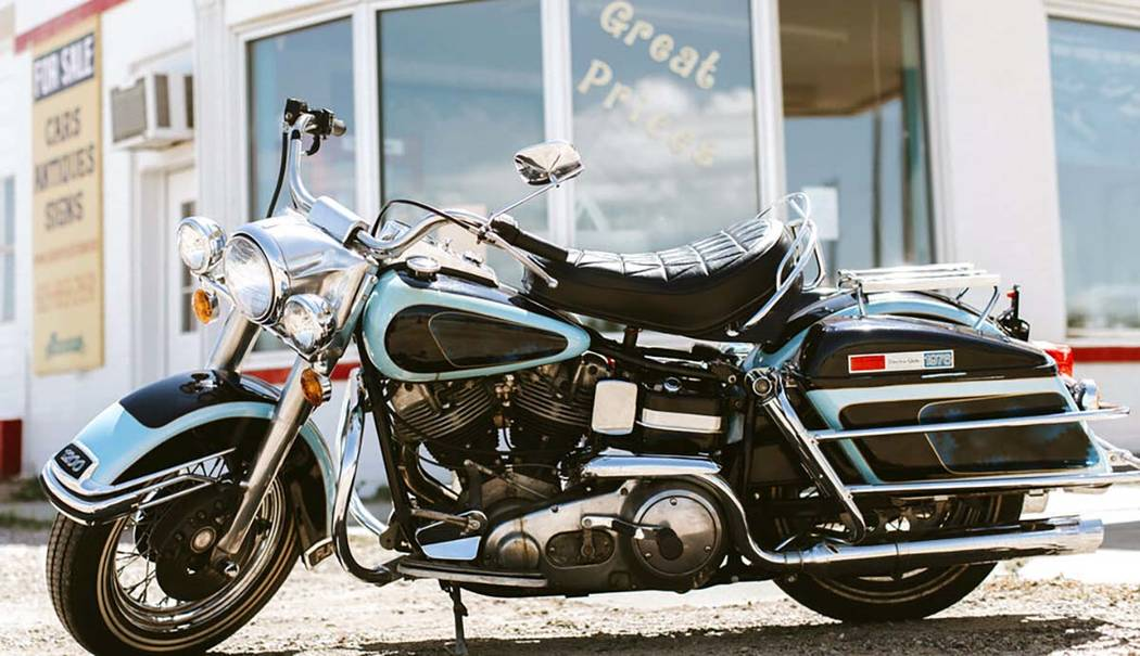 This photo provided by GWS Auctions shows a motorcycle that belonged to Elvis Presley. Kruse GW ...
