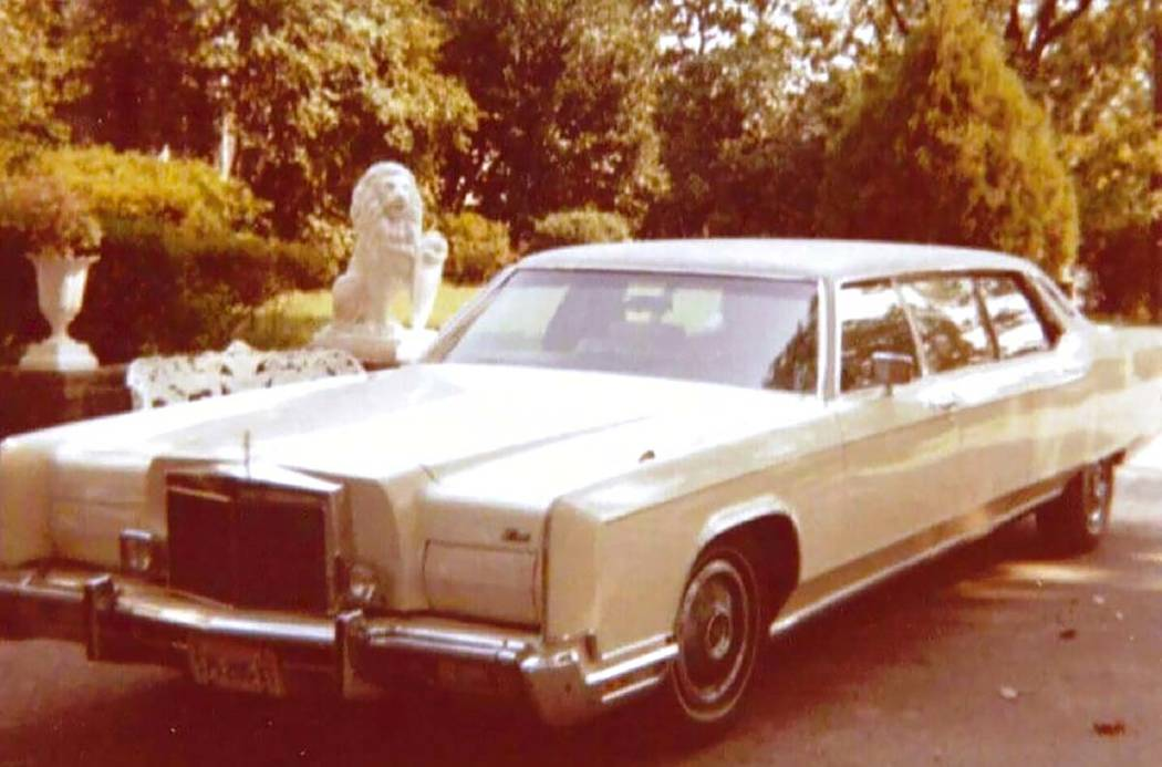 This photo provided by GWS Auctions shows a personal stretch limousine that belonged to Elvis P ...