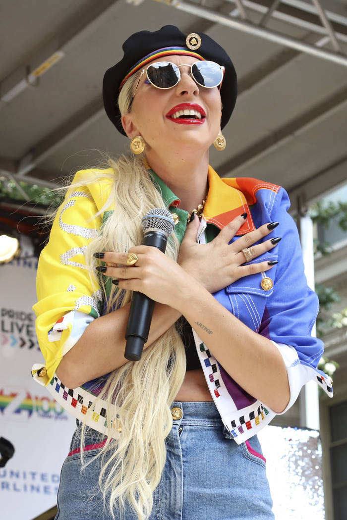 Lady Gaga participates in the second annual Stonewall Day honoring the 50th anniversary of the ...