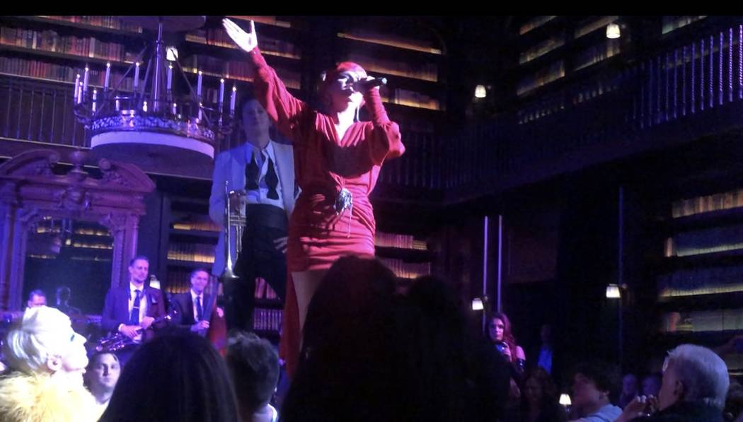 Lady Gaga and Brian Newman are shown at a late-night gig at NoMad Restaurant on Sunday, June 9, ...