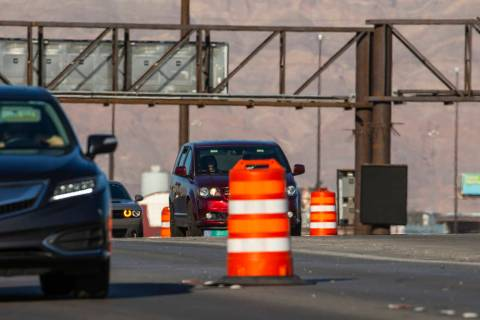 Spaghetti Bowl freeway ramp closures are scheduled for Wednesday night for painting and lane st ...