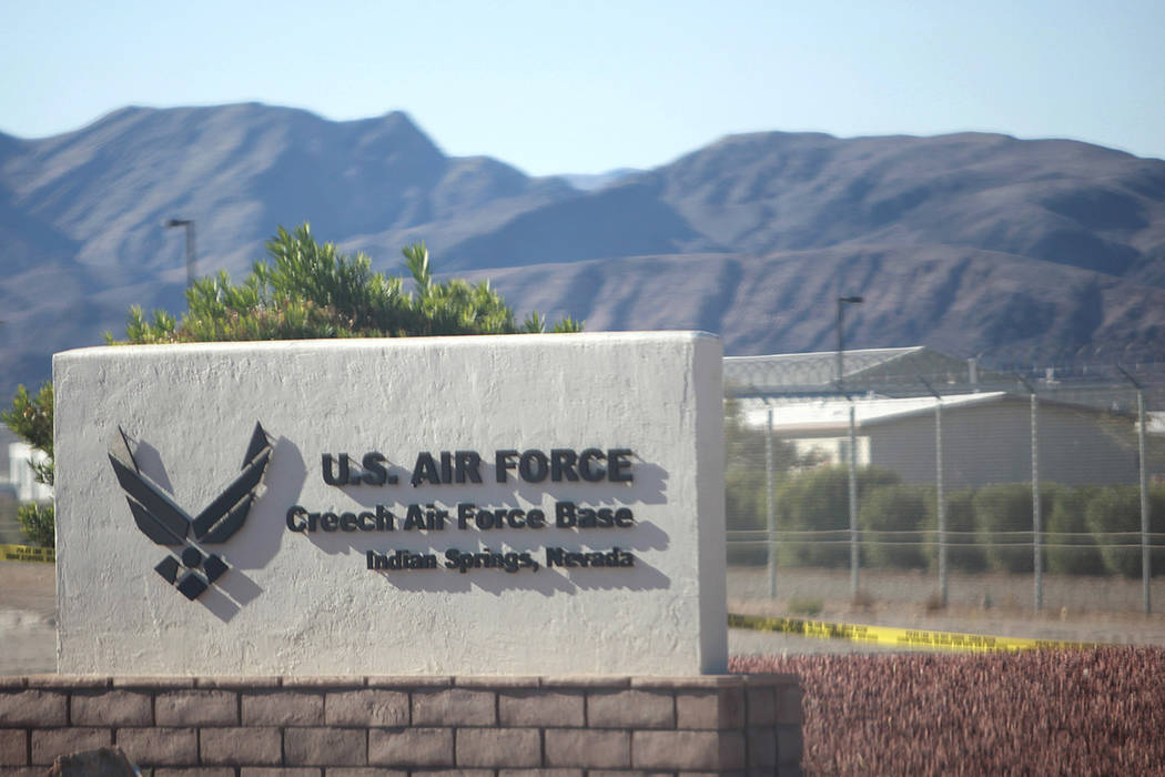 Creech Air Force Base in Indian Springs, Nev. (Las Vegas Review-Journal/File)