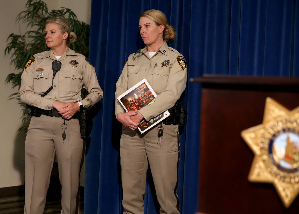 After-Action Review authors Detective Stephanie Ward, left, and Capt. Kelly McMahill listen to ...