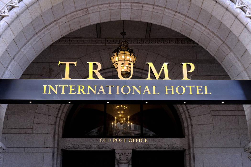 The north entrance of the Trump International in Washington D.C. (AP Photo/Mark Tenally)
