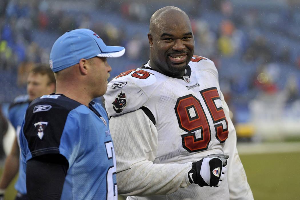 FILE - In this Sunday, Nov. 27, 2011 file photo, Tampa Bay Buccaneers defensive tackle Albert H ...