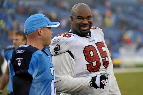 FILE - In this Sunday, Nov. 27, 2011 file photo, Tampa Bay Buccaneers defensive tackle Albert H ...