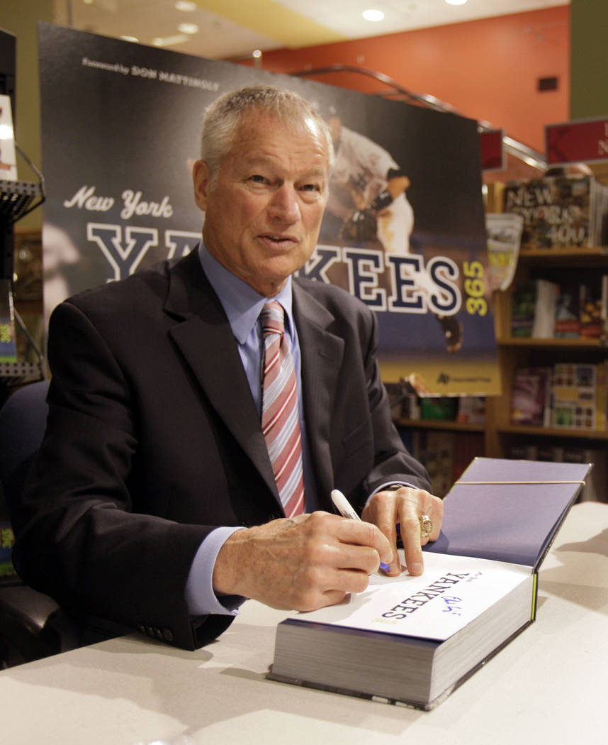 FILE - In this Wednesday, Oct. 7, 2009 file photo, Former New York Yankees pitcher Jim Bouton s ...