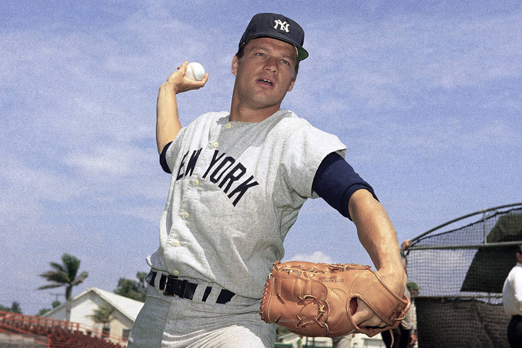 FILE - This 1967 file photo shows New York Yankees pitcher Jim Bouton. Jim Bouton, the New York ...