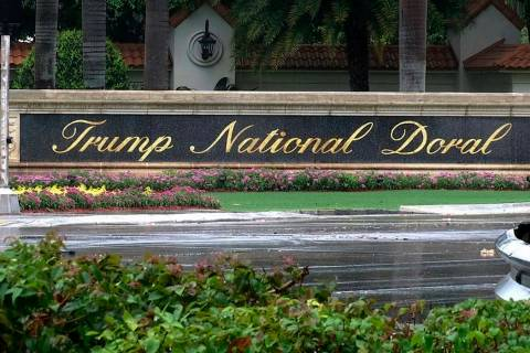 FILE - This June 2, 2017 file frame from video shows the Trump National Doral in Doral, Fla. Pr ...
