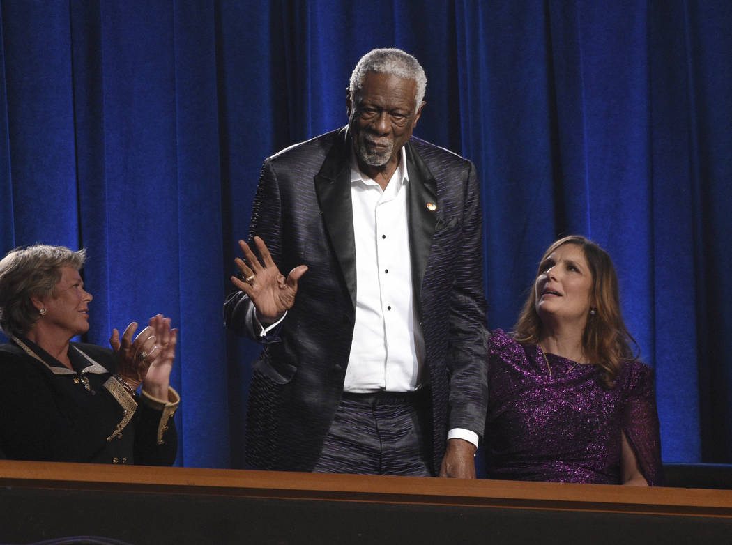 Bill Russell accepts the Arthur Ashe award for courage at the ESPY Awards on Wednesday, July 10 ...