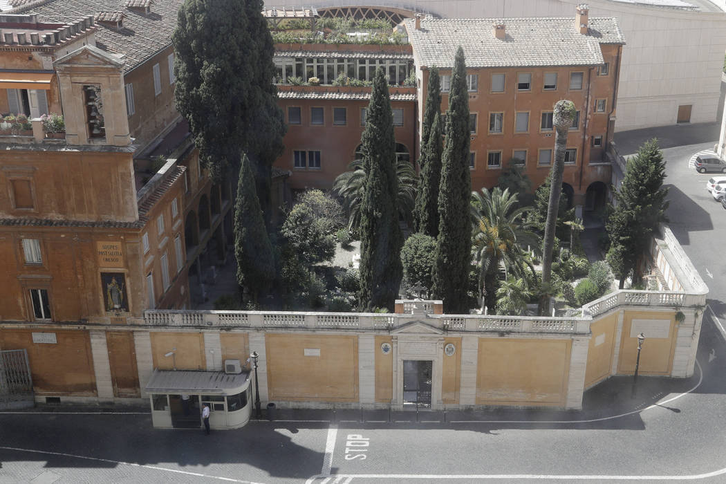 This picture taken on Wednesday, July 10, 2019 shows the view of the Teutonic Cemetery inside t ...