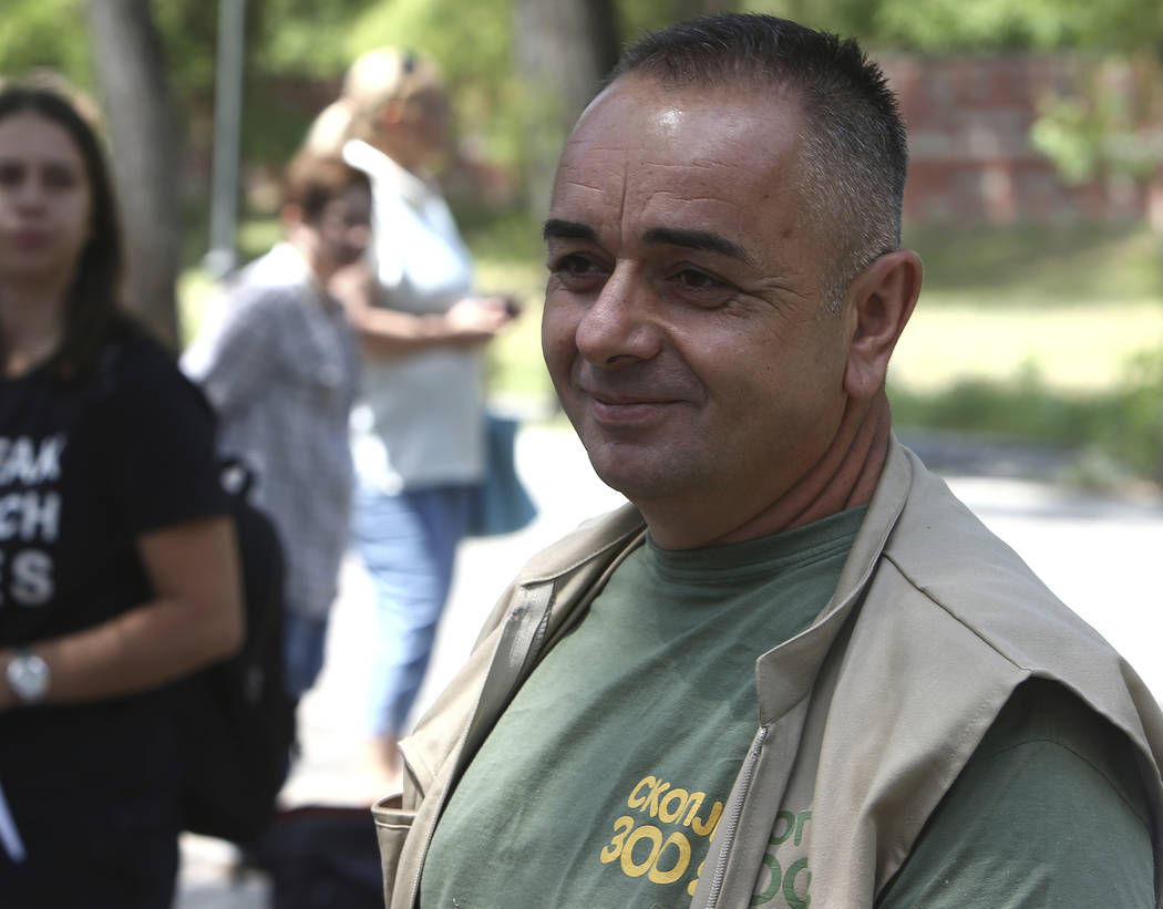 Zoo keeper Dragan Thrajkovski is photographed after the return of Koko, the chimpanzee at the S ...
