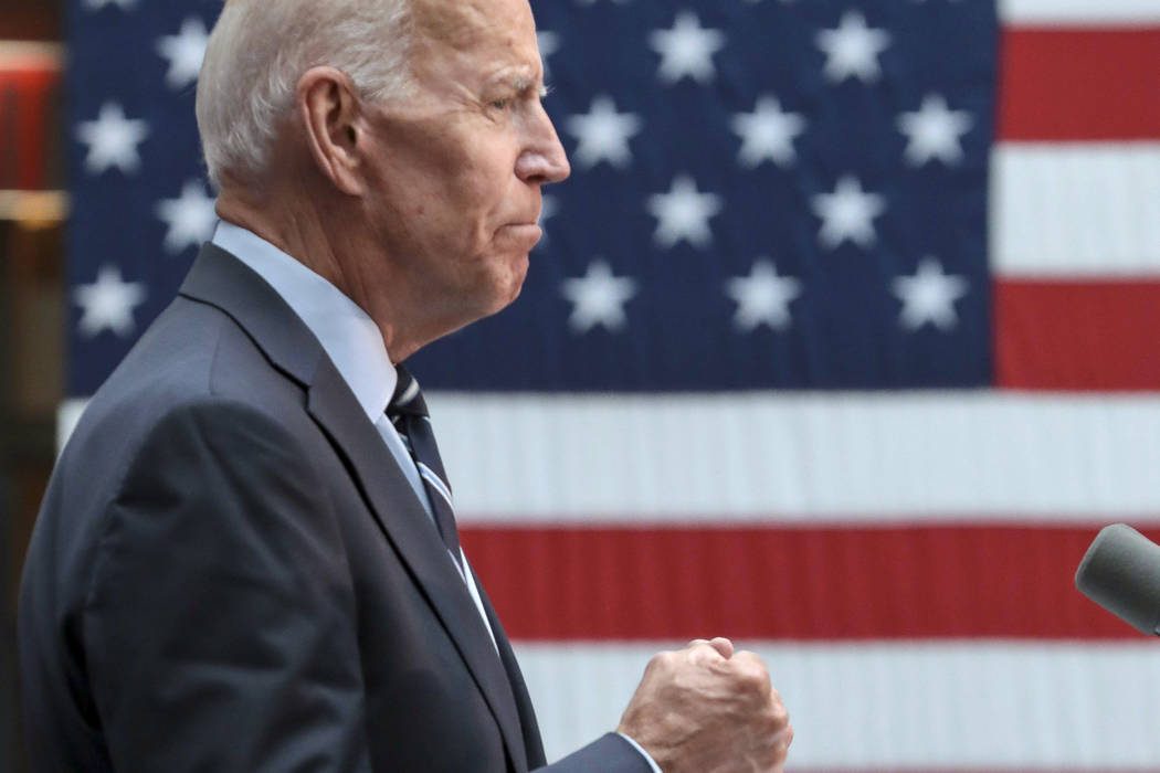 Democratic presidential candidate Joe Biden speaks about foreign policy at The Graduate Center ...
