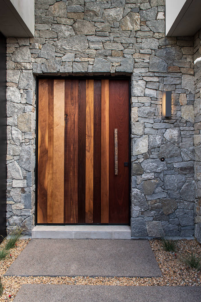 The door makes a statement and sets the tone for this Jewel Homes model. (Jewel Homes)