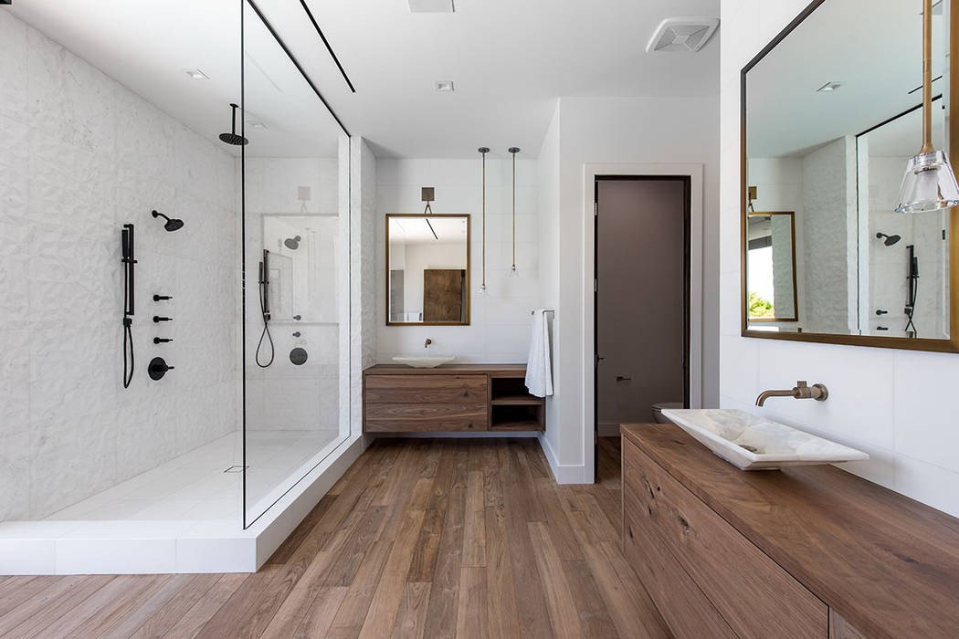 The master bath has a Zen quality. (Jewel Homes)