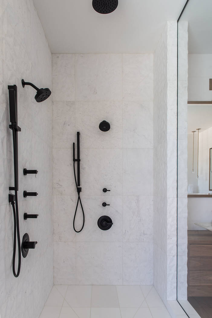 The master shower. (Jewel Homes)