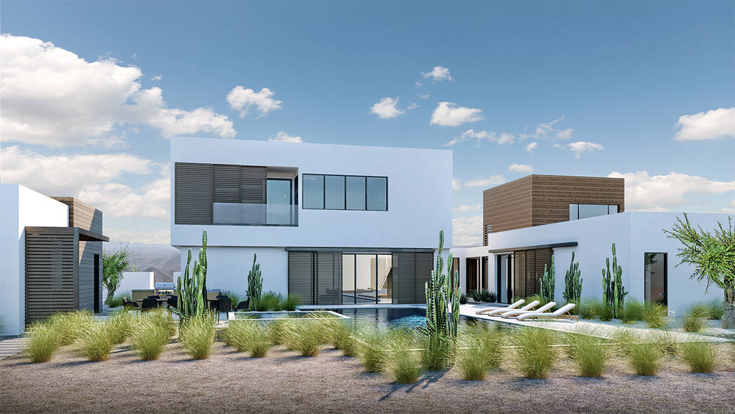 This rendering shows some designs that will be showcased in Jewel Homes, a new Las Vegas luxury ...