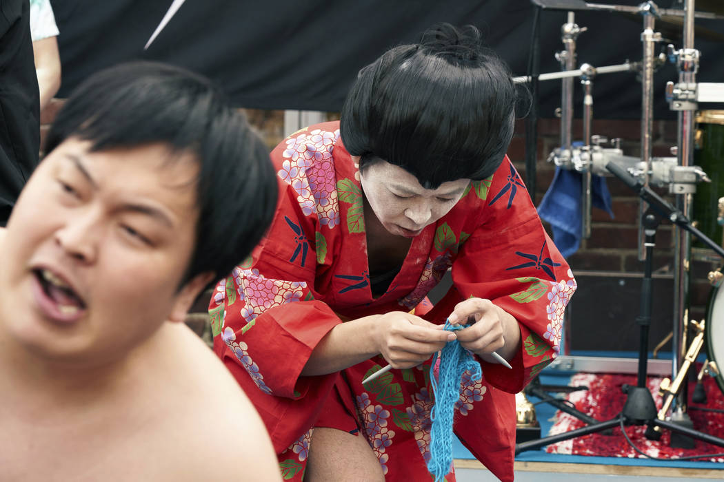 The Japanese team Giga Body Metal perform in the Heavy Metal Knitting world champions with a sh ...