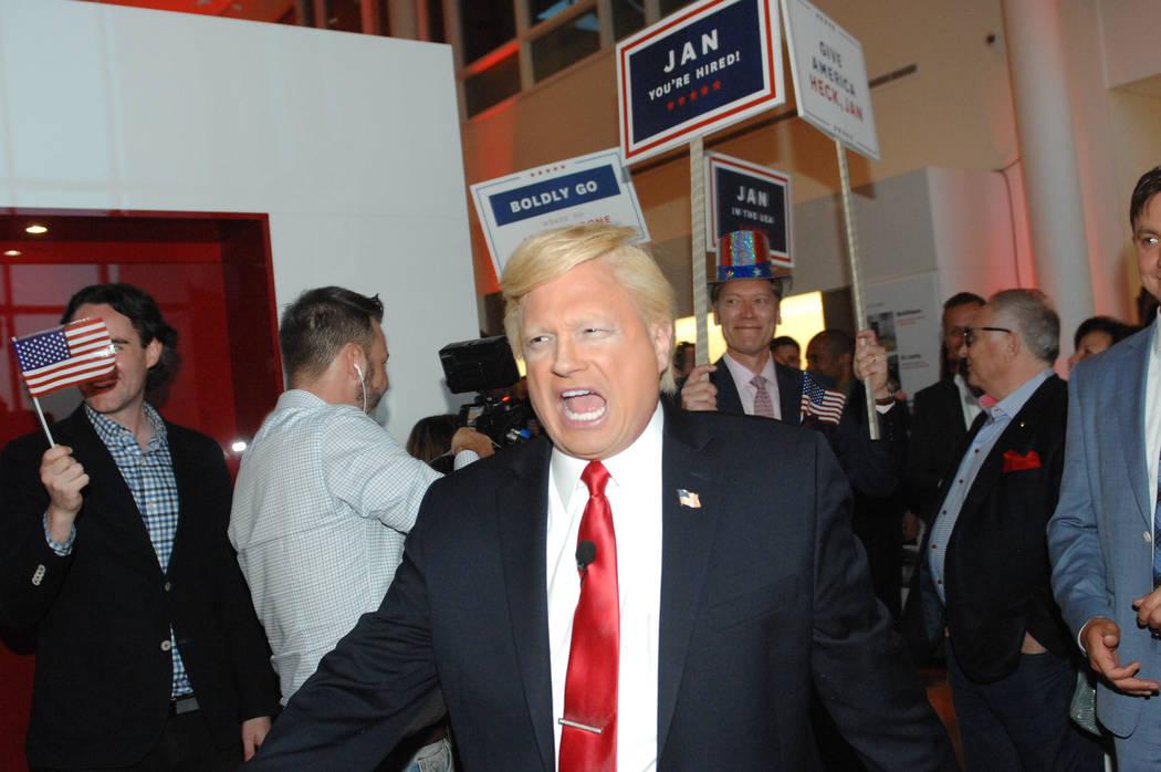 John DiDomenico, shown as Donald Trump at a private party. (Courtesy photo))