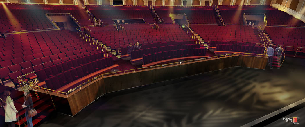 A rendering of the VIP area of the Colosseum at Caesars Palace, which will be renovated from Ju ...