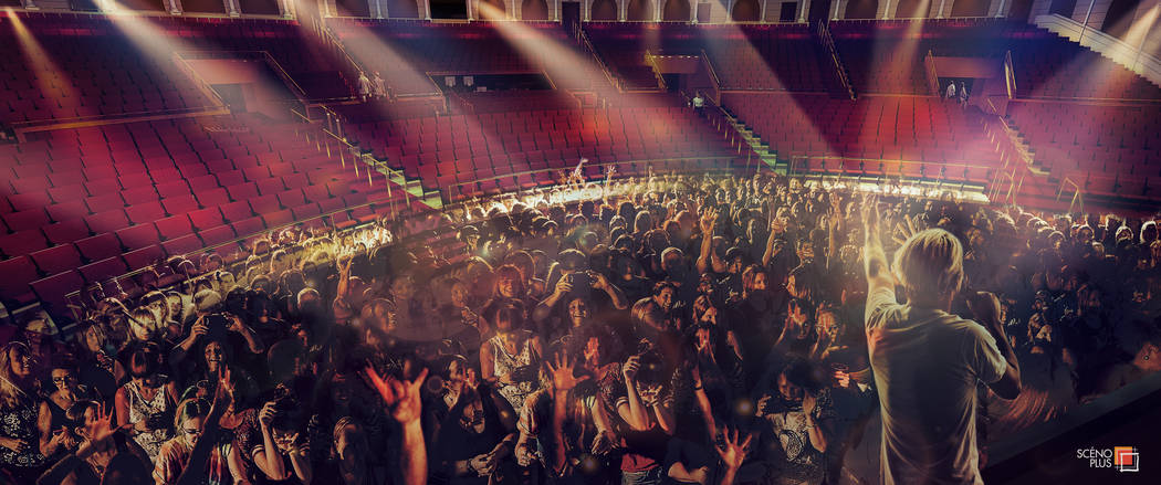 A rendering of the general admission section at the Colosseum at Caesars Palace. (Caesars Enter ...
